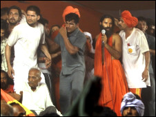 रामलीला मैदान पर बाबा रामदेव