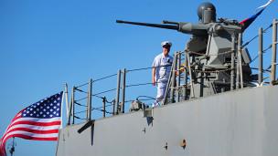 Tàu chiến Mỹ (Hình minh họa)