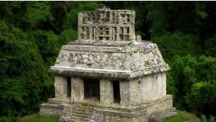 Túmulo maia (Foto: BBC)