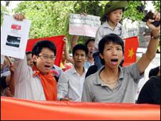 Biểu tình chống Trung Quốc hôm 26/6/2011 (Hình: AP)