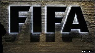 Logo da Fifa. Reuters