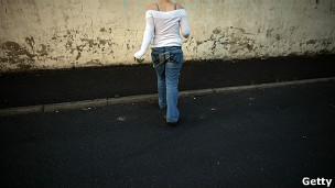 Una prostituta en la calle