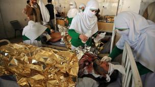 Herido atendido en Pakistán