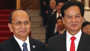 Hai ông Thein Sein và Nguyễn Tấn Dũng