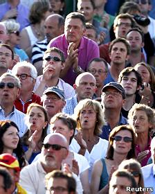 Espectadores durante un partido de tenis