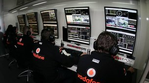 Garage de Fórmula 1