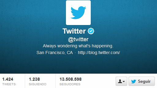 Perfil de Twitter de Twitter