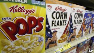 Cajas de cereales Kellogg's