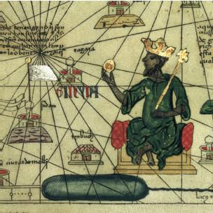 Atlas catalão de 1375 traz ilustração descrevendo Mansu Musa I
