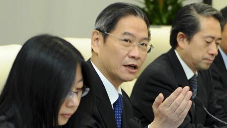 Thứ trưởng Trương trong một cuộc tham vấn với phái đoàn Nhật Bản về đảo tranh chấp