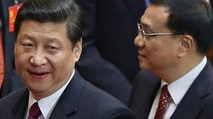 Xi Jinping y Yu Zhengsheng