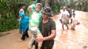 Tifón en Filipinas (archivo).