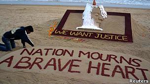 Protesto na Índia. Reuters