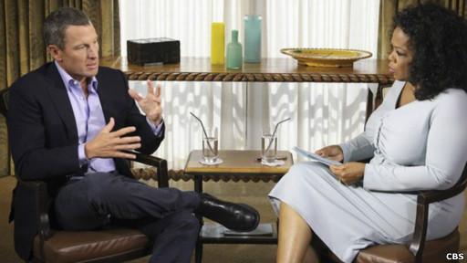Oprah Winfrey entrevistando a Lance Armstrong