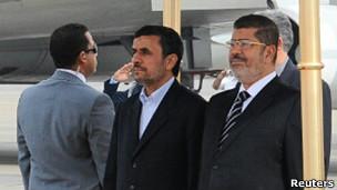 محمد مرسی و محمود احمدی نژاد