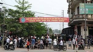 Người dân Vĩnh Yên sau ngày xảy ra vụ biểu tình