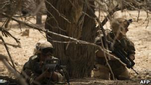 Combatentes no Mali