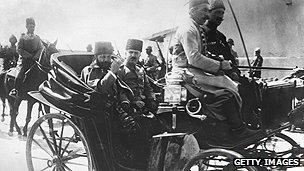 Gobernador otomano de Siria, Jamal Pasha, en 1917