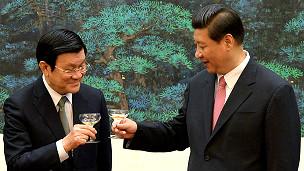 Chủ tịch Tập Cận Bình và Chủ tịch Trương Tấn Sang