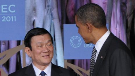 Chủ tịch Sang và Barack Obama