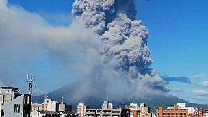 volcán Sakurajima, Japón