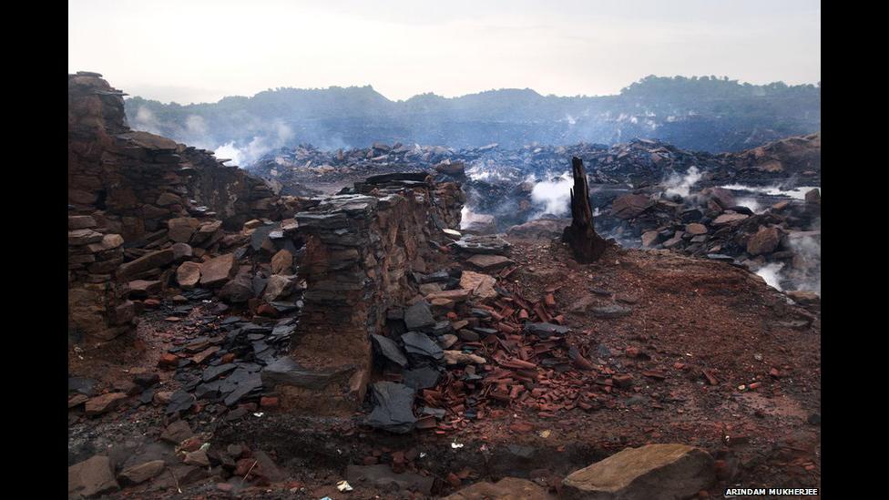 Incendio en Jharia. Arindam Mukherjee