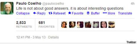 Tuit de Paulo Coelho