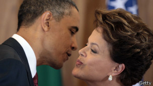 Barack Obama e Dilma Rousseff (Foto Getty Image)