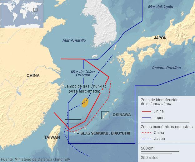 Mapa China/Japón