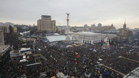 Plaza de la Independencia en diciembre de 2013