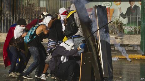 Manifestantes de oposición