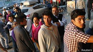 Pobladores en Iquique