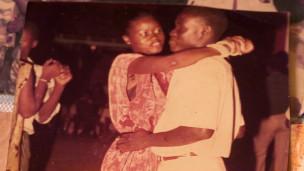 Mbaye y su esposa Yacine