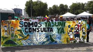 Marcha de Yasunidos en Quito.