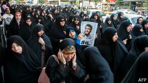 Manifestación en Teherán para endurecer las normas.
