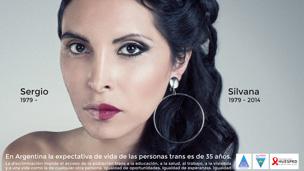 Cartel de la campaña contra la transfobia de la Fundación Huésped