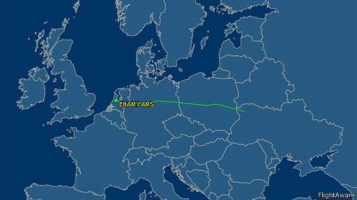 Trayectoria del MH17