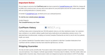 Canpharm.com Website Pharmacy