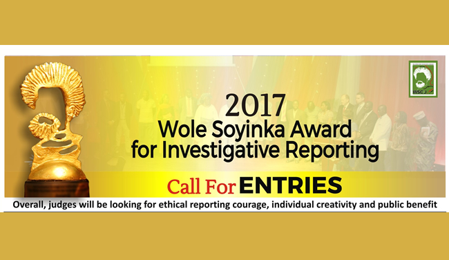 2017 wole soyinka award for investigative reporting