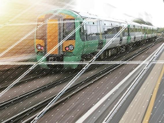 train and solar
