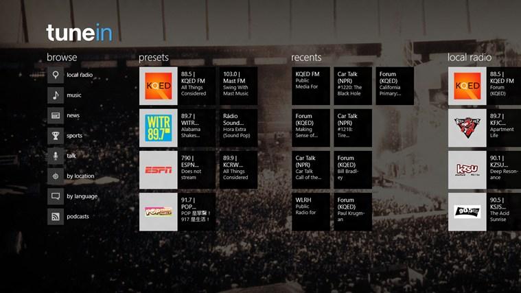 http://apps.microsoft.com/windows/en-gb/app/tunein-radio/a2b86ed9-4db2-4ded-ae34-aa44530370ff