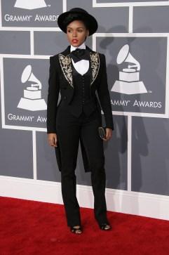 55th Annual GRAMMY Awards held at Staples Center - Arrivals Featuring: Janelle Monae Where: Los Angeles, California, United States When: 10 Feb 2013 Credit: Adriana M. Barraza/WENN.com (Newscom TagID: wennphotosthree632749.jpg) [Photo via Newscom]