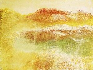 ah-art degas 1890, Russet landscape, pastel over monotype, 30 x 40 cm, private