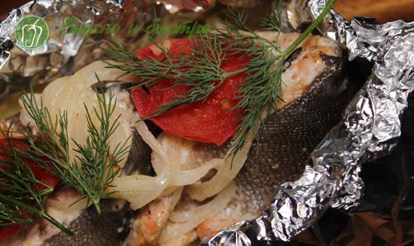 горбуша в фольге с овощами в духовке - рецепт с фото
