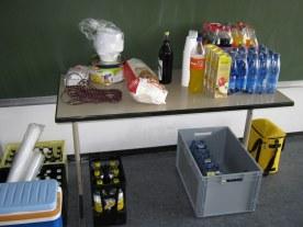 Auch Getränke waren reichlich vorhanden