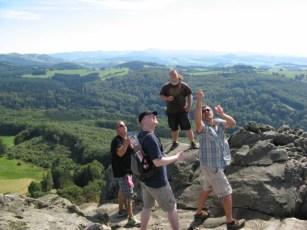 Adlerkampf auf dem Gipfel der Milseburg (Müsliberg HiHi.. Hallo Jan)