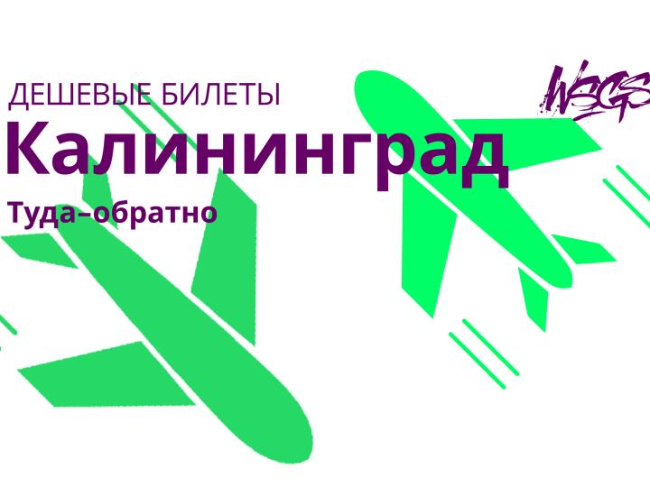 Лучшие цены на билеты в Калининград из Москвы и Санкт-Петербурга