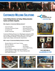 WSI Automation Flyer Cover | Weld Systems Integrators
