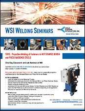 Hot Stamped Boron Steel Welding Seminar | Weld Systems Integrators