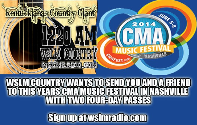 WSLM COUNTRY CMA TICKETS